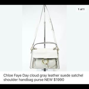 Chloe Faye Nwts. Cloud grey. Gorgeous.